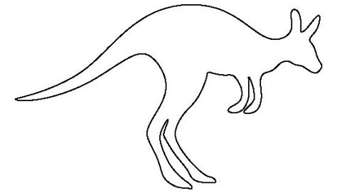 kangaroo pattern   printable outline  crafts