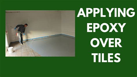 applying epoxy  tiles   ensure proper bonding