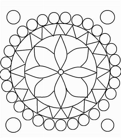 Coloring Pages Circle Rangoli Kaleidoscope Printable Diwali