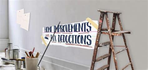 tax deductible home improvements  repairs