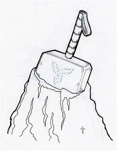 Hammer Mjolnir Thor Drawing Thors Google Tattoo