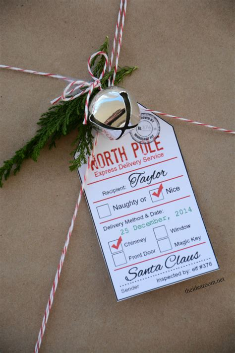 printable holiday gift tags  idea room