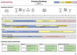 company roadmap template strategy timelines visio With visio project timeline template