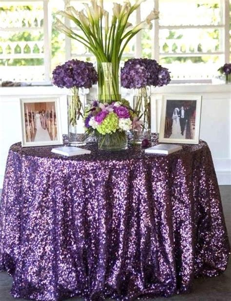 Purple Sequin Table Linen Purple Sequin Table By Sparklesoiree
