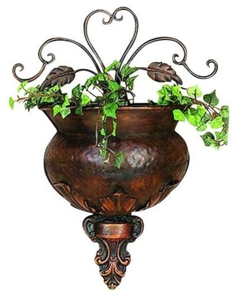 metal wall planters metal wall planter traditional indoor pots and planters