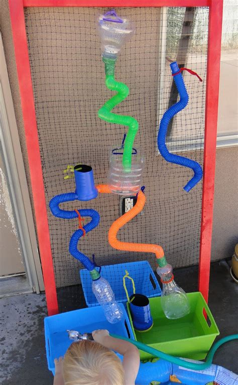 how to make a water wall let the children play ideas for a water wall at preschool