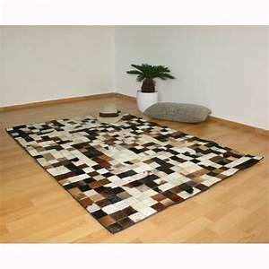 tapis carre peau de vache cuir carpet 160 x 230 cm achat With tapis salon carré