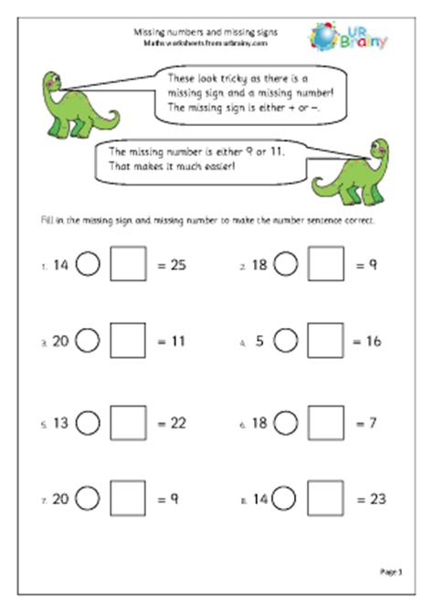 missing numbers and missing signs subtraction maths worksheets for year 2 age 6 7