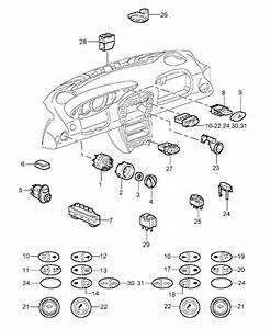 Porsche 996 Rear Spoiler Switch 99661315610a05