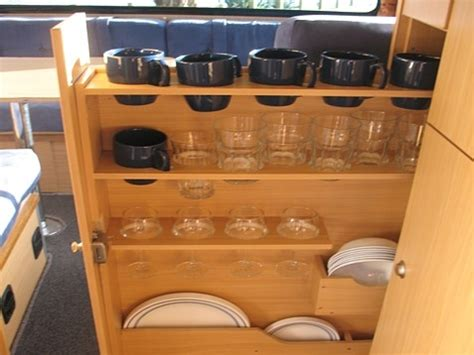 rv kitchen storage solutions coastal cers motorhome hire whitianga getting around 5036