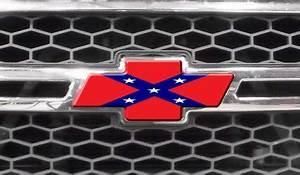 Chevy Rebel Flag Logo Chevy Bowtie Decal Rebel Flag