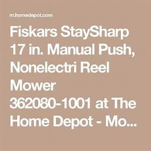 Fiskars Staysharp 17 In  Manual Push Walk Behind Non