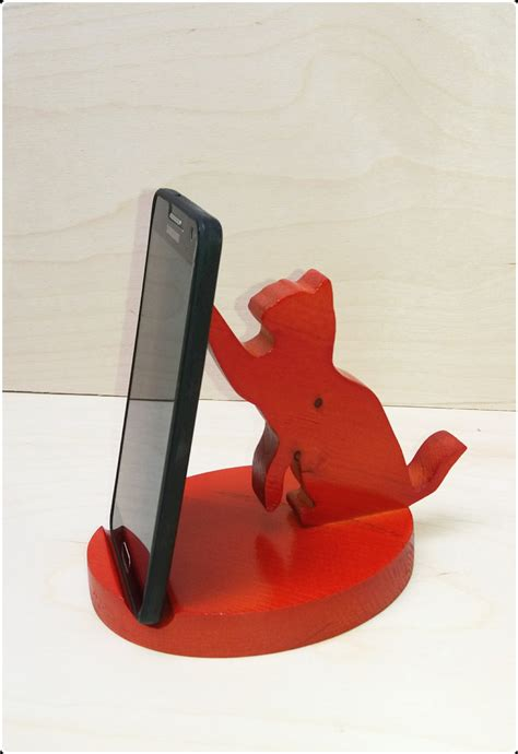 diy phone stand for desk sale wooden phone holder cat wooden phone stand by