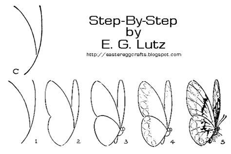 Drawing Butterflies By Progressive Steps