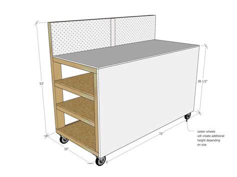 ana white build  tall workbench  wood storage