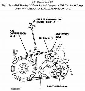 Do You Know Where I Can Find A Belt Diagram For 1996 Honda Civic Ex 4 Cy