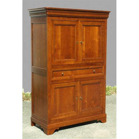 bureau merisier massif meuble tv 4 portes louis philippe meubles de normandie