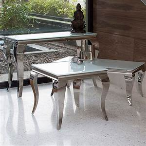 louis contemporary black or white glass chrome coffee With white and chrome coffee table