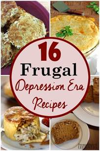 frugal and flavorful depression era recipes