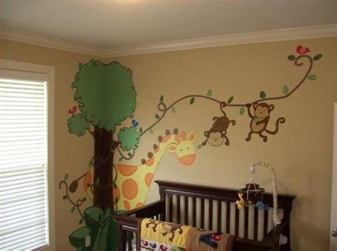 Babyzimmer Wandgestaltung Tiere by Die Besten 25 Safari Babyzimmer Ideen Auf