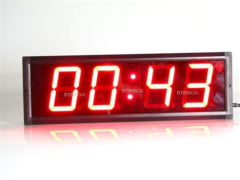 brand indoor red led countdown clock countdown count time