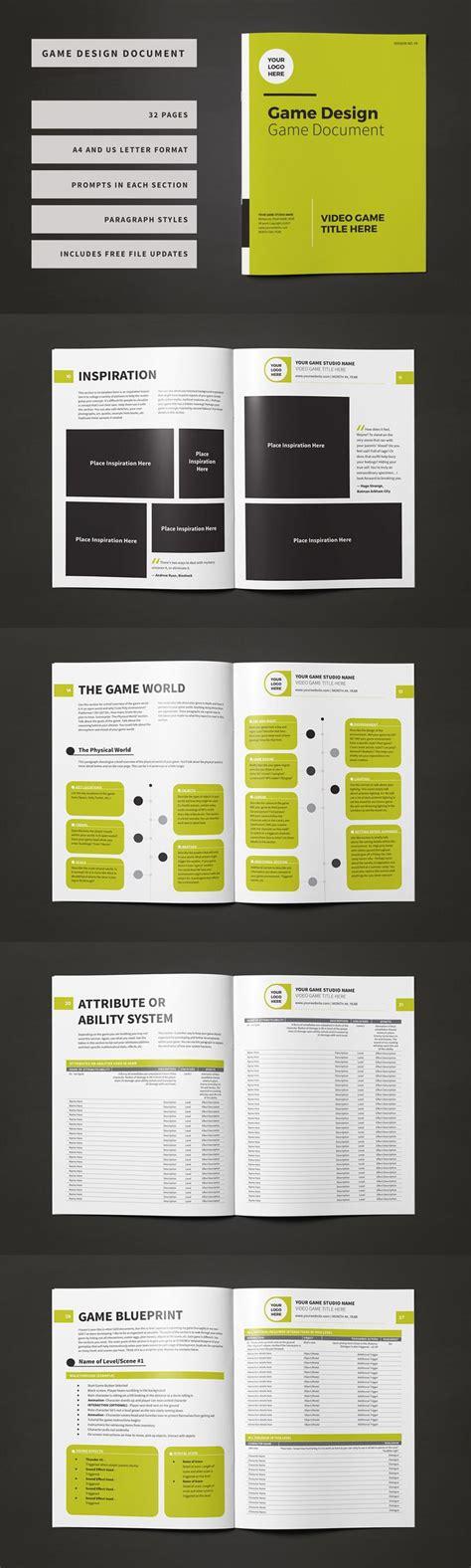game design document template ideas  pinterest