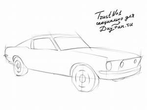 How to draw Ford Mustang step by step   ARCMEL.COM