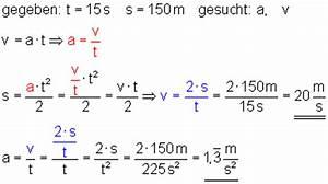 Zeit Berechnen Formel : klasse 10 l sung der aufgaben zur beschleunigten bewegung ~ Themetempest.com Abrechnung