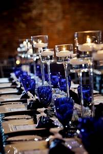 royal blue white and silver wedding decor Archives