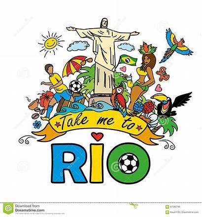 Cartoon Brazilian Rio Animals Templates Take Instruments