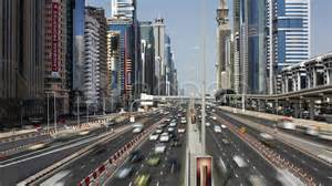 dubai sheikh zayed rd traffic and new high rise buildings uae t lapse stock 7735945
