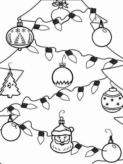 Coloring Christmas Ornament Holiday Ornaments Pages Tree