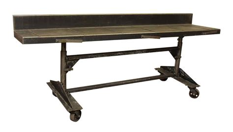bell o adjustable height desk metal adjustable height rolling desk olde good things