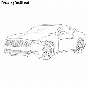How to Draw a Ford Mustang | DrawingForAll.net