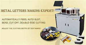 automatic cnc channel letter bender slot machine for With channel letter return software