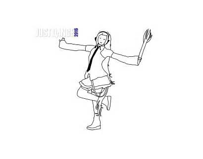 Dance Dibujos Colorear Miku Pintar Colorea