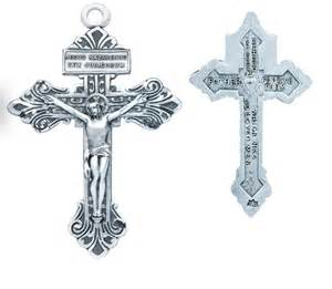 communion jewelry box pardon crucifix cross sterling silver pendant necklace by