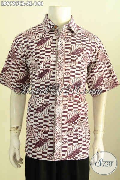 produk kemeja batik lengan pendek kekinian hem batik modern klasik proses cap warna alam