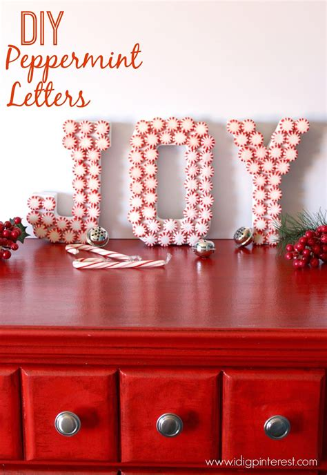 home made decor diy peppermint letters craft i dig