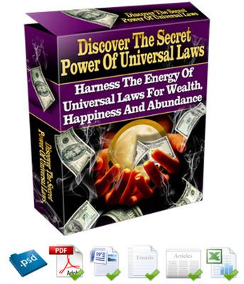 Discover The Secret Power Of Universal Laws Plr Ebook