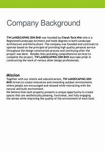 company profile tw landscaping With landscaping company introduction letter