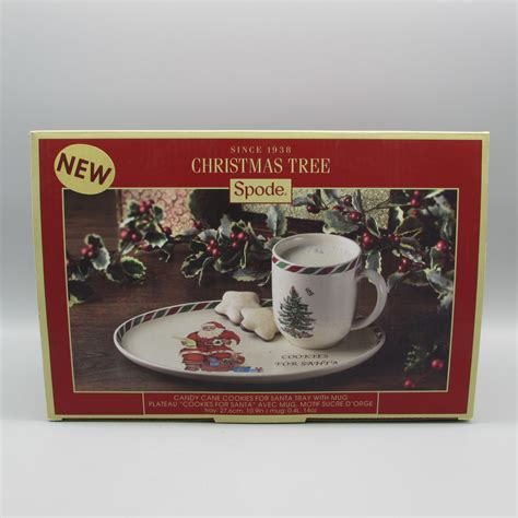 tray christmas cookies santa tree