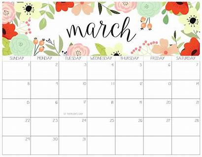 Calendar March Template Month Printable Monthly Calendars