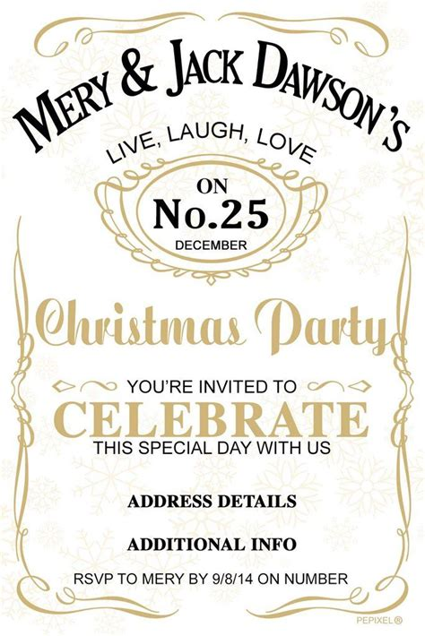 Christmas Party Invitation Jolly Jack Christmas party