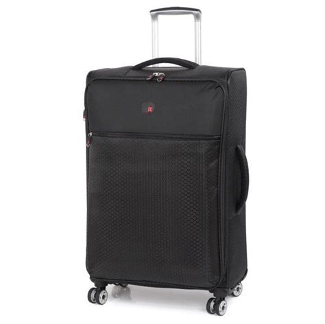 Light Luggage by The Lite Ultra Lightweight Suitcase 70cm Black Luggage
