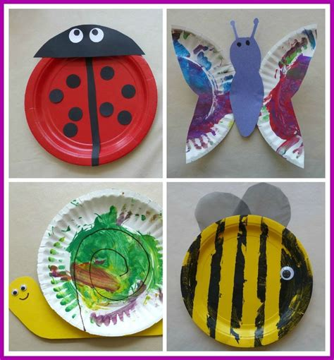 Paper Plate Crafts Bugs Wwwimgkidcom The Image Kid