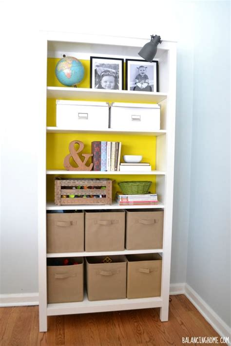 Dressing A Bookcase by Dressing Up A Bookshelf Without Committing Open Shelving