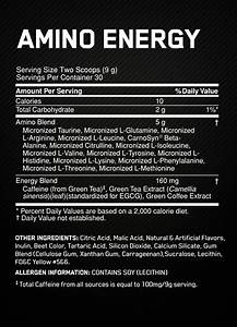 Essential Amino Energy By Optimum Nutrition  U2013 Supplement Review