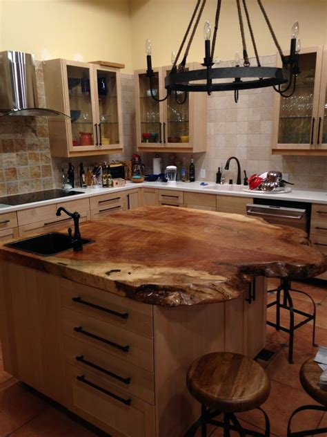wood island tops kitchens a spalted maple top on a kitchen island live edge bar