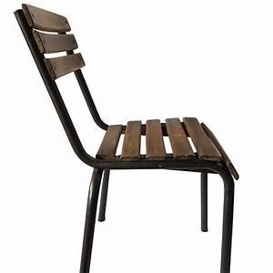 Chaise Bistrot Metal : chaise de bureau bistrot industriel ~ Teatrodelosmanantiales.com Idées de Décoration